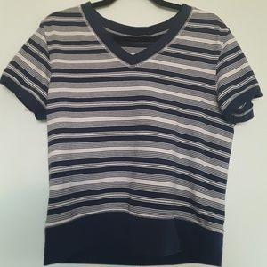 Tops - Blue and White Vintage Shirt